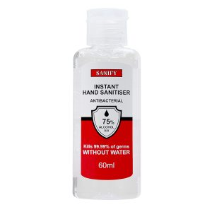 60ml bottle of SANIFY Hand Sanitising Gel