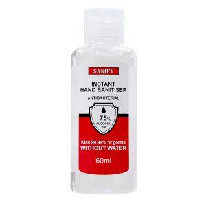 60ml bottle of SANIFY Hand Sanitising Gel